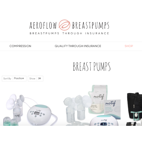 Aeroflow Breastpumps home page